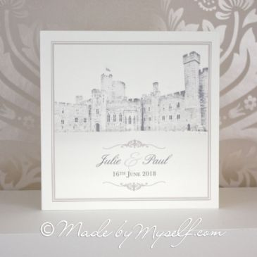Peckforton Castle Printed Border Wedding Invitation